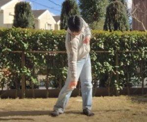 ゴルフ練習、上半身3