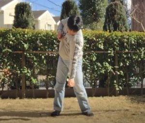 ゴルフ練習、上半身2