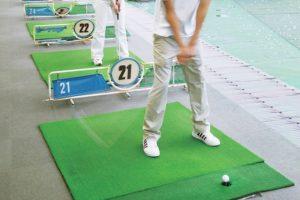 ゴルフ練習、身体の軸